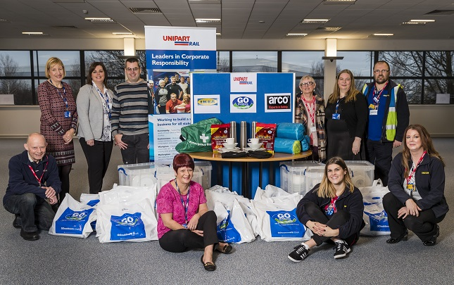 Unipart Rail joins forces with IKEA and Go Outdoors to help homeless in Doncaster this Christmas