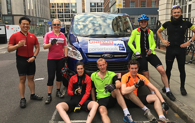 Unipart Rail supports Porterbrook charity cycle ride
