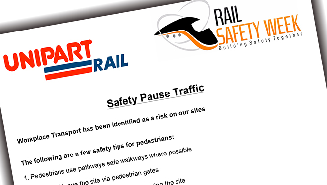 Rail Safety Week at Unipart Rail